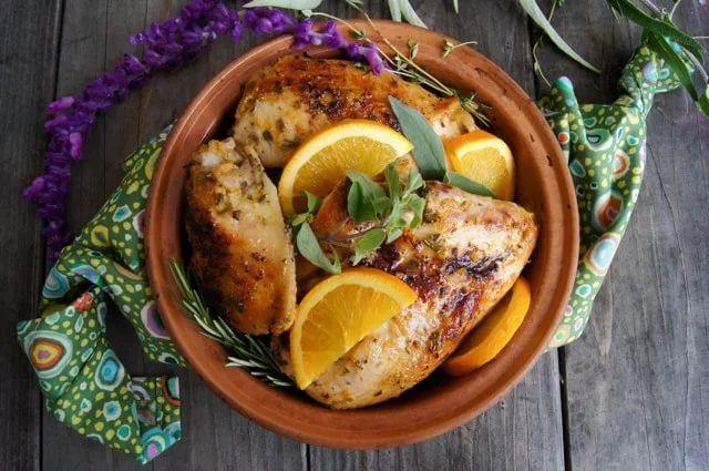 Курица с лимоном и медом
