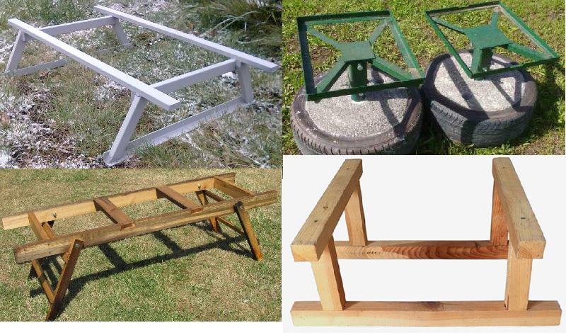 Металлические и деревянные подставки