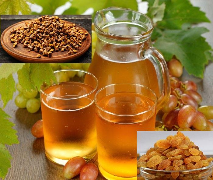 Медовуха с изюмом и виноградным соком