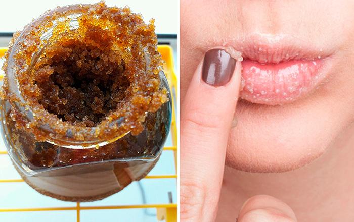 Медовый скраб для губ