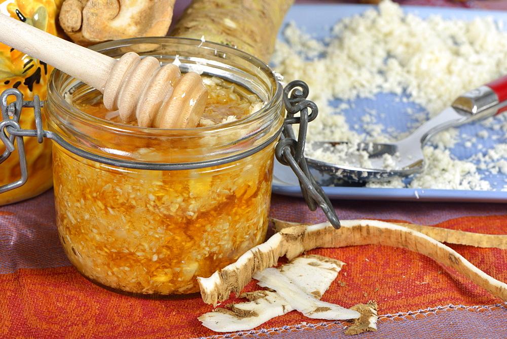 Мед с молотой гвоздикой и корнем хрена