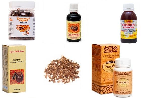 Препараты на основе пчелиного подмора