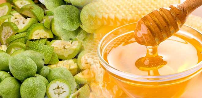 Мед с кожурой грецкого ореха
