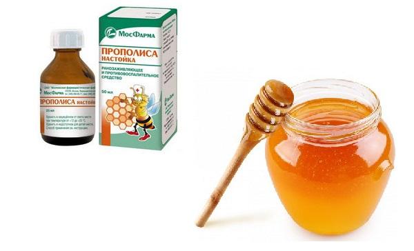 Прополис и мед для маски