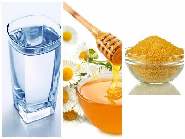 Желатин, мед, и вода