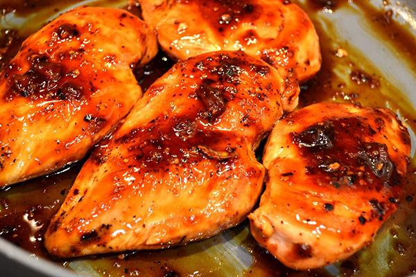 Куриное филе в медово-горчичной смеси