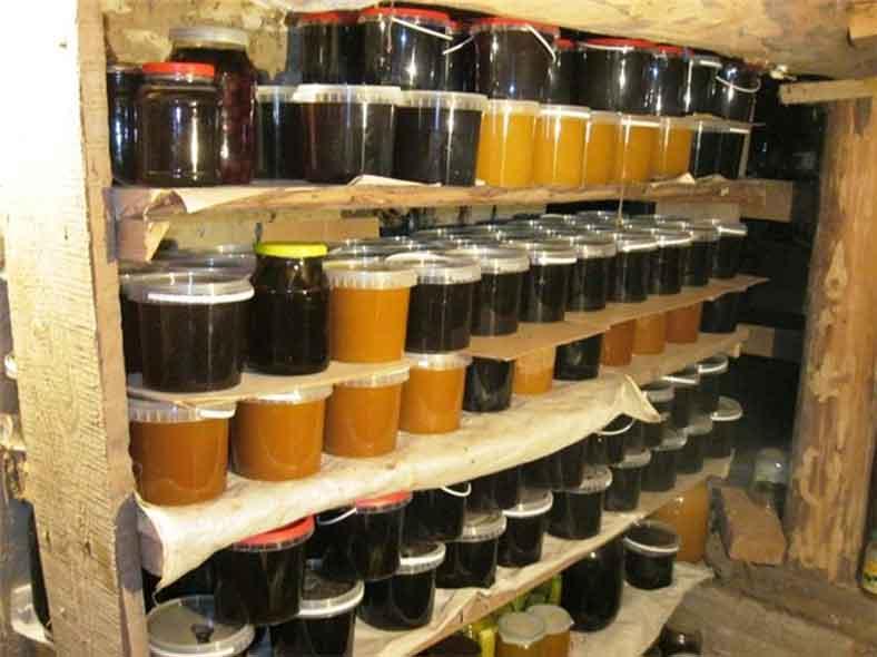 Хранение меда в подвале