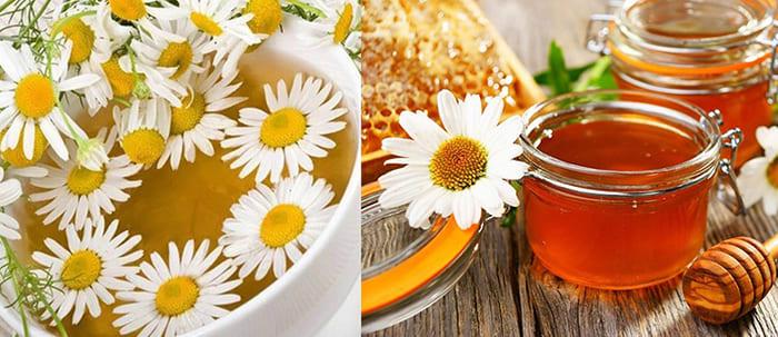 Настойки ромашки и меда