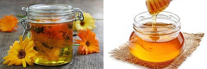 Маска с медом и календулой