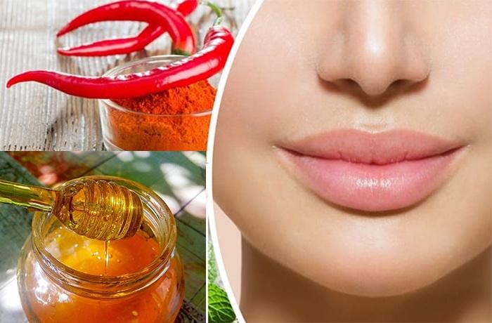С эффектом увеличения губ