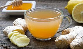 Имбирный чай с лимоном и мёдом