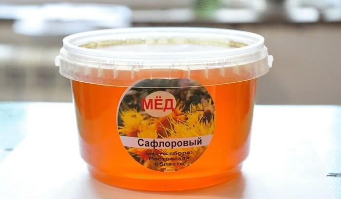 Сафлоровый мед в пластиковой таре